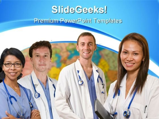 World Health Team Medical PowerPoint Themes And PowerPoint Slides 0911