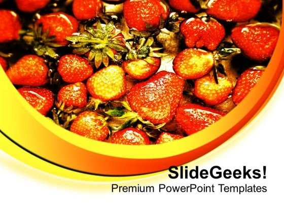 World Healthiest Food Strawberries PowerPoint Templates Ppt Backgrounds For Slides 0713