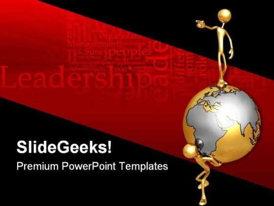 World Leader Leadership PowerPoint Templates And PowerPoint Backgrounds 0811