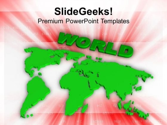 World Map PowerPoint Templates Ppt Backgrounds For Slides 0413