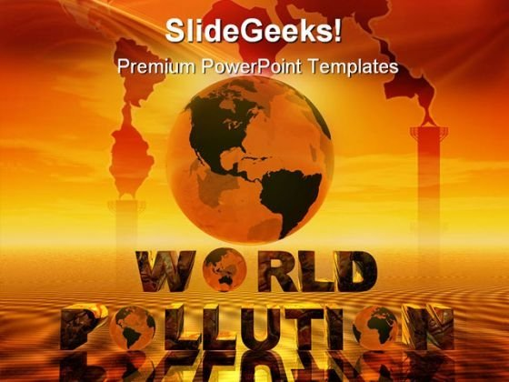 World Pollution Globe PowerPoint Themes And PowerPoint Slides 0311