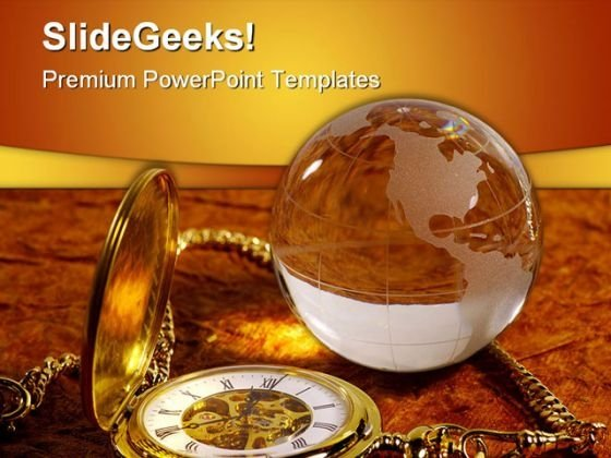 World Time Future PowerPoint Template 1010