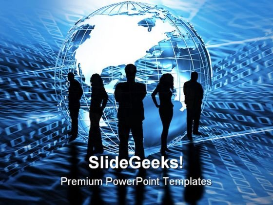 World Trading Global PowerPoint Background And Template 1210