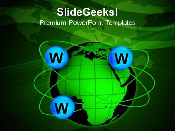 World Wide Web Globe PowerPoint Templates And PowerPoint Themes 1112