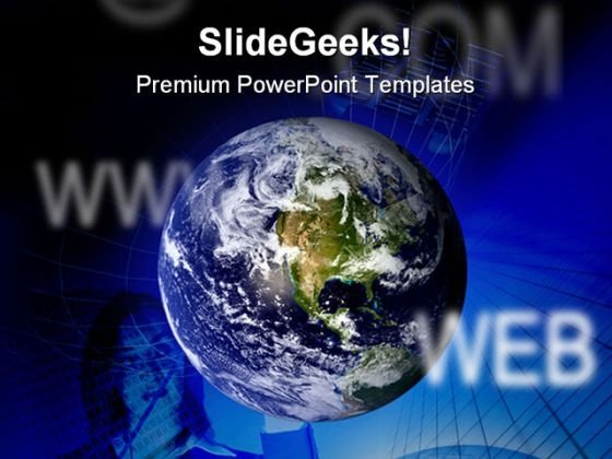 World Wide Web Globe PowerPoint Themes And PowerPoint Slides 0511