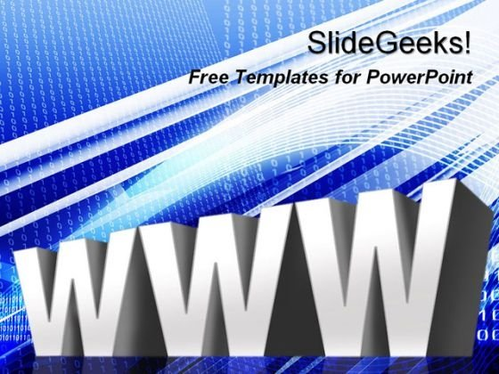 World Wide Web Communication PowerPoint Template