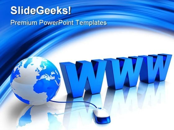 Www Internet Globe PowerPoint Templates And PowerPoint Backgrounds 0411