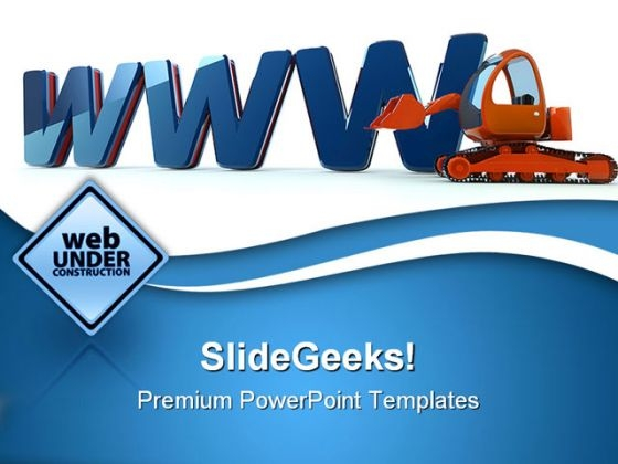 Www Web Building Construction PowerPoint Themes And PowerPoint Slides 0411