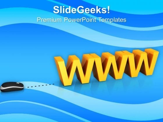 Www With Computer Mouse PowerPoint Templates Ppt Backgrounds For Slides 0813