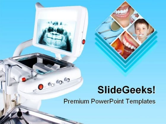 X Ray Of Teeth Dental PowerPoint Themes And PowerPoint Slides 0811