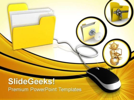 yellow computer theme internet powerpoint templates and powerpoint, Modern powerpoint