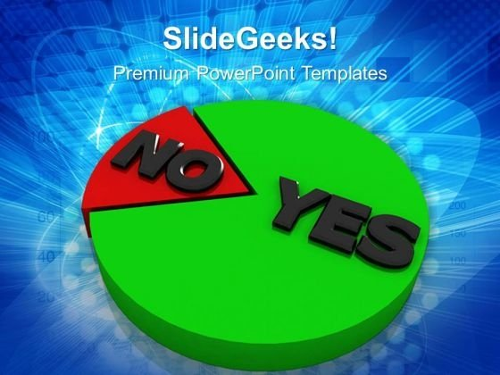Yes And No Marketing Circle Charts PowerPoint Templates And PowerPoint Themes 0612