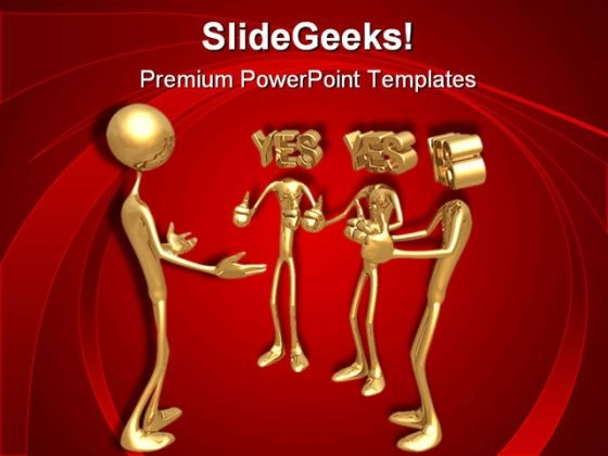 Yes Men Business PowerPoint Themes And PowerPoint Slides 0511