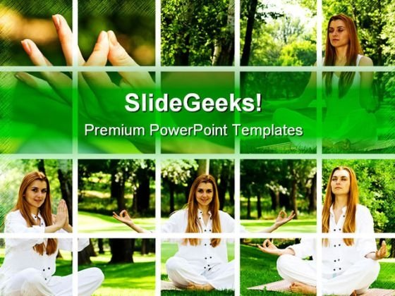 Yoga Collage Health PowerPoint Themes And PowerPoint Slides 0411