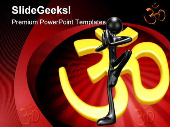 Yoga Health Religion PowerPoint Themes And PowerPoint Slides 0511