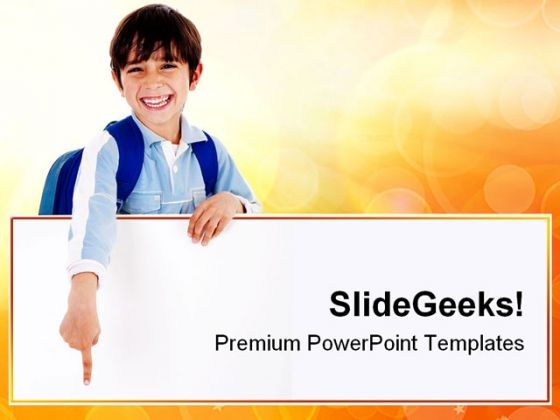 Young School Boy Education PowerPoint Templates And PowerPoint Backgrounds 0811