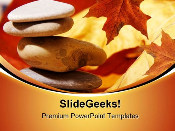 Zen Stones Spa Nature Business PowerPoint Themes And PowerPoint Slides 0611