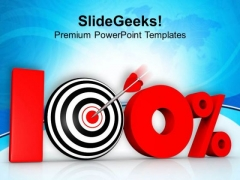 100 Percent Discount In Marketing Concept PowerPoint Templates Ppt Backgrounds For Slides 0413