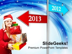 2012 2013 Road Sign Pointing Towards Future PowerPoint Templates Ppt Backgrounds For Slides 1112