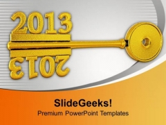 2012 And 2013 Concept On Grey Key PowerPoint Templates Ppt Backgrounds For Slides 1212