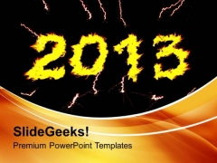 2013 A New Year Hope And Targets PowerPoint Templates Ppt Backgrounds For Slides 0413