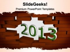 2013 Broken Wall Metaphor PowerPoint Templates And PowerPoint Themes 0512