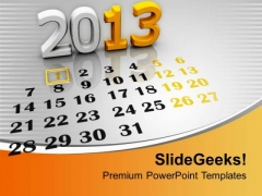 2013 Calendar Template PowerPoint Templates Ppt Backgrounds For Slides 0113