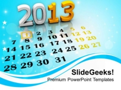 2013 New Calendar Holidays PowerPoint Templates Ppt Backgrounds For Slides 1112