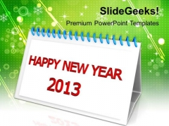 2013 New Year Calendar Holidays PowerPoint Templates Ppt Backgrounds For Slides 1212