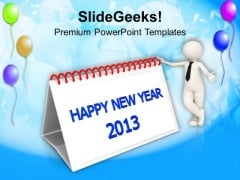 2013 New Year Calendar PowerPoint Templates Ppt Backgrounds For Slides 1212