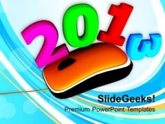 2013 On Computer Mouse PowerPoint Templates Ppt Backgrounds For Slides 1212
