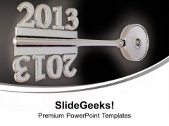 2013 On Grey Key New Symbol Security PowerPoint Templates Ppt Backgrounds For Slides 0113