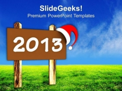 2013 On Wooden Board Holidays PowerPoint Templates Ppt Backgrounds For Slides 1212