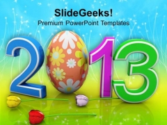 2013 With Easter Egg Festival PowerPoint Templates Ppt Backgrounds For Slides 0313