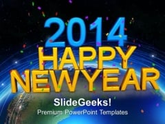 2014 Happy New Year PowerPoint Template 1113