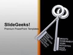 2 Silver Keys Interconnected Success PowerPoint Templates Ppt Backgrounds For Slides 0113