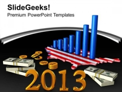 3d American Business Profit New Year Concept PowerPoint Templates Ppt Backgrounds For Slides 1112