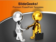 3d Business Men Shaking Hands PowerPoint Templates Ppt Backgrounds For Slides 0713