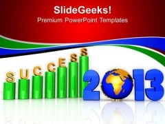 3d Business Success Profit Year PowerPoint Templates Ppt Backgrounds For Slides 1212