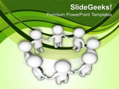 3d Business Team In A Circle PowerPoint Templates Ppt Backgrounds For Slides 0713