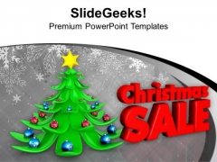 3d Christmas Tree And Season Sale PowerPoint Templates Ppt Backgrounds For Slides 1212