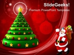 3d Christmas Tree Celebrations PowerPoint Templates And PowerPoint Themes 1012