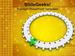 3d Circular Jigsaw Puzzle Innovation Concept PowerPoint Templates Ppt Backgrounds For Slides 0213