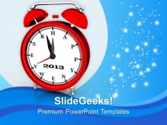 3d Clock Wishing New Year PowerPoint Templates Ppt Backgrounds For Slides 1212