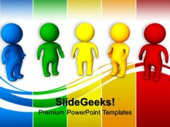 3d Colorful People Business PowerPoint Templates And PowerPoint Themes 0812