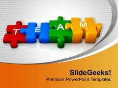 3d Colorful Team Puzzle PowerPoint Templates Ppt Backgrounds For Slides 0413