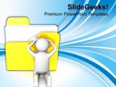 3d Confused Man Icon PowerPoint Templates Ppt Backgrounds For Slides 0813