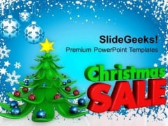 3d Decorative Christmas Tree With Sale Shopping PowerPoint Templates Ppt Backgrounds For Slides 1112