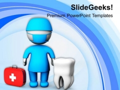 3d Dental Image Of Doctor PowerPoint Templates Ppt Backgrounds For Slides 0813