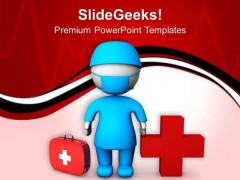 3d Doctor With Medical Symbol PowerPoint Templates Ppt Backgrounds For Slides 0713